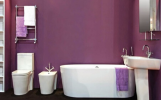 baño de color morado