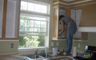 pintando gabinete