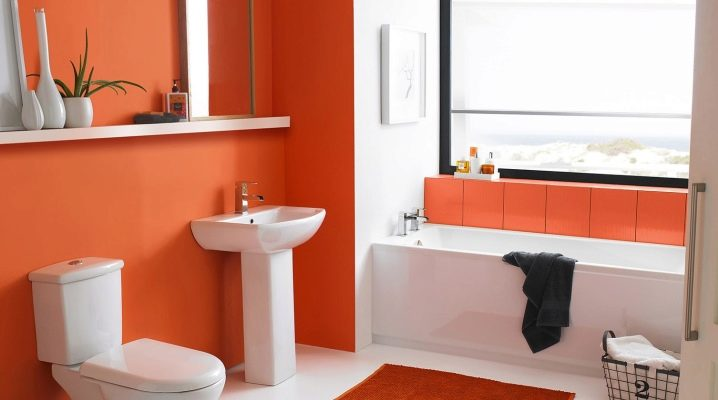 Pintura adecuada para tu baño naranja
