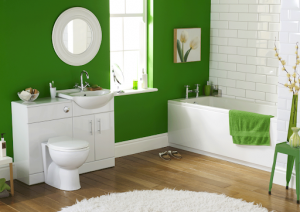 una pintura adecuada para tu baño verde
