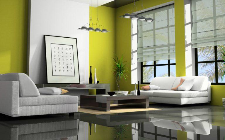 sala color verde