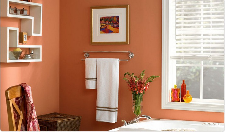 baño con pintura de interiores.
