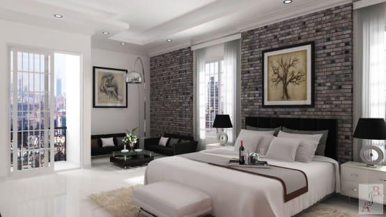 habitación decorada