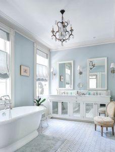 baño azul pastel