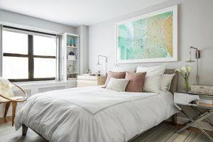 habitación tono gris suave