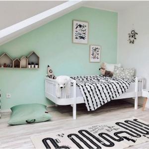 habitación infantil verde vintage