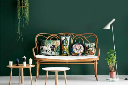 sala de estar color verde