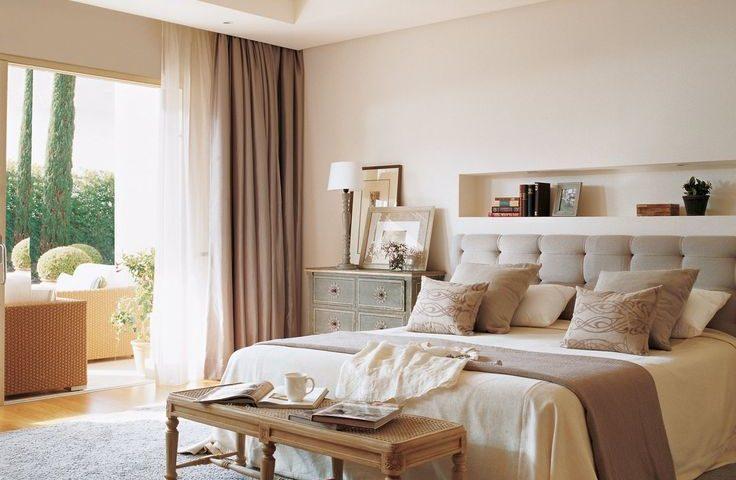 habitación color bronce cálido