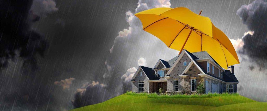 techo protegido de la lluvia